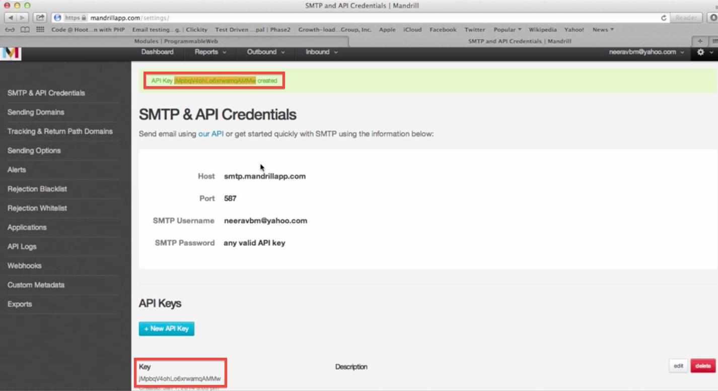 Send Drupal's Transactional Emails using Mandrill | Red crackle