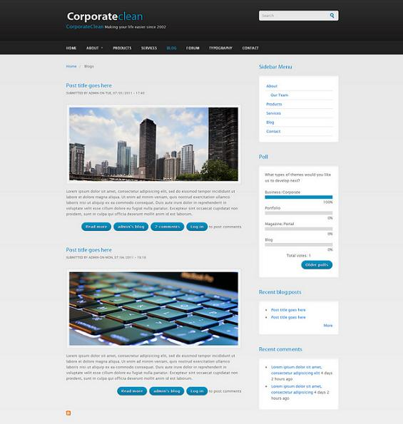 Corporate Clean Theme for Drupal