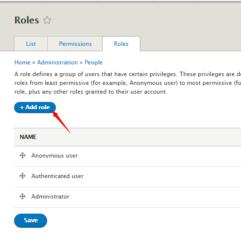 add role in Drupal