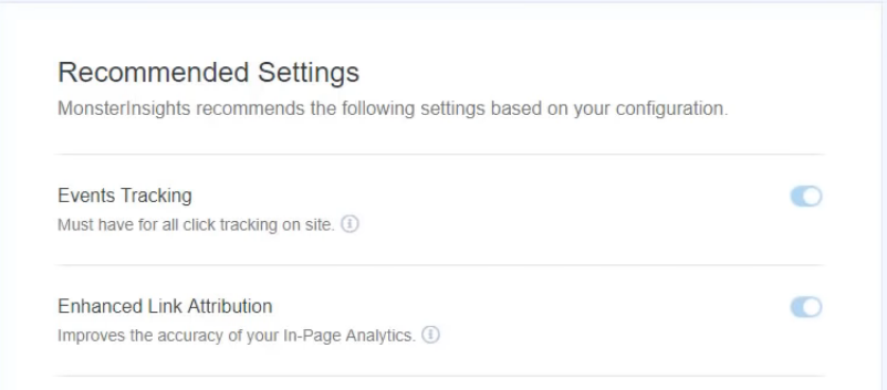 recommended settings in WordPress